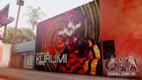 Kurumi Tokisaki Graffiti para GTA San Andreas segunda tela