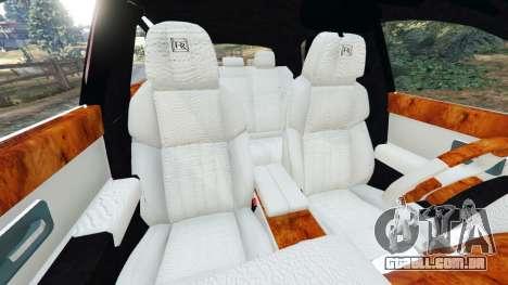 GTA 5 Rolls Royce Ghost 2014 v1.2 vista lateral direita
