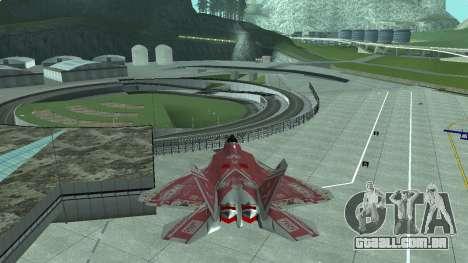 F-22 Raptor PJ para GTA San Andreas esquerda vista