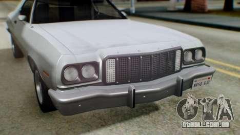 Ford Gran Torino 1974 IVF para GTA San Andreas interior