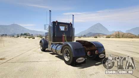 GTA 5 Peterbilt 289 traseira vista lateral esquerda