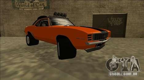 Chevrolet Camaro SS Rusty Rebel para GTA San Andreas vista direita