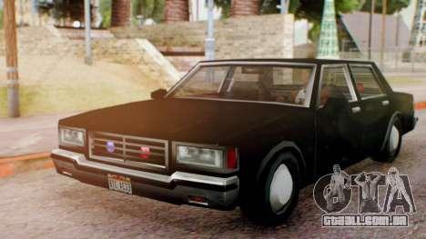 Unmarked Police Cutscene Car Normal para GTA San Andreas traseira esquerda vista