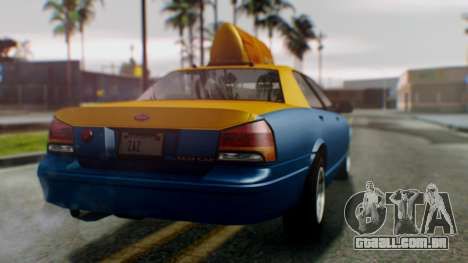 Vapid Taxi para GTA San Andreas esquerda vista