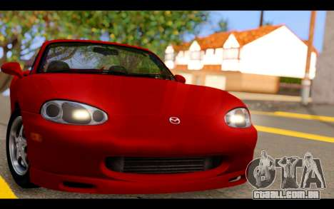 Mazda MX-5 para GTA San Andreas vista traseira