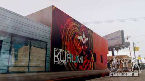 Kurumi Tokisaki Graffiti para GTA San Andreas terceira tela