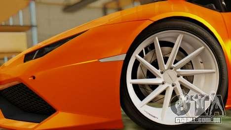 Lamborghini Huracan LP610-4 2015 para GTA San Andreas traseira esquerda vista