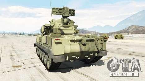 GTA 5 2К22 Tunguska traseira vista lateral esquerda
