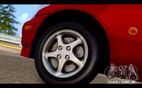 Mazda MX-5 para GTA San Andreas traseira esquerda vista