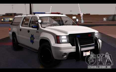 GTA 5 Declasse Sheriff Granger IVF para GTA San Andreas vista inferior