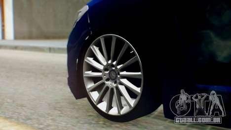 Renault Fluence King para GTA San Andreas traseira esquerda vista