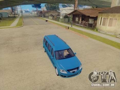 Lada Largus 7-door para GTA San Andreas vista traseira