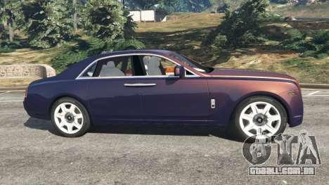 GTA 5 Rolls Royce Ghost 2014 v1.2 vista lateral esquerda