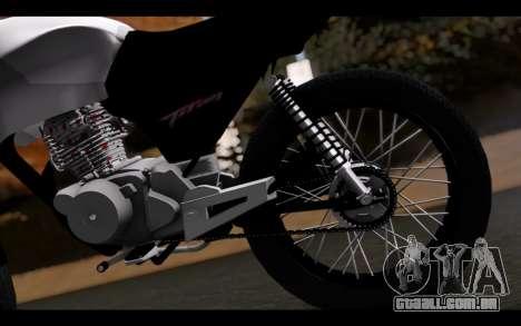 Honda CG Titan 150 Stunt Imitacion para GTA San Andreas vista traseira