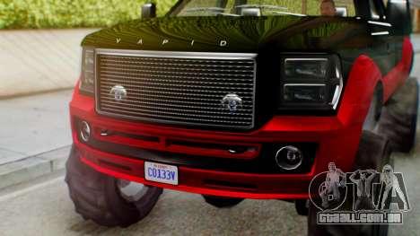 GTA 5 Vapid Sandking SWB IVF para GTA San Andreas vista traseira