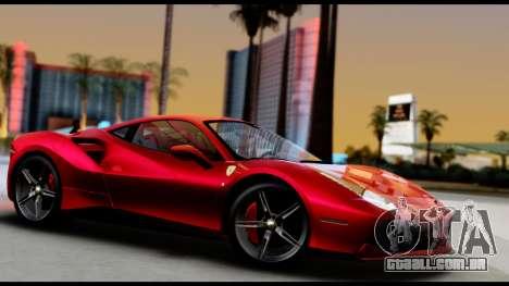 Ferrari 488 GTB 2016 para GTA San Andreas vista direita