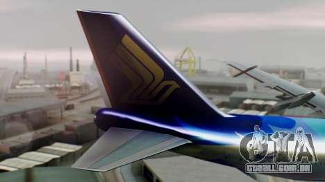 Boeing 747-400 Singapore Airlines Tropical PJ para GTA San Andreas traseira esquerda vista