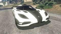 Koenigsegg One1 2014 v1.1 para GTA 5