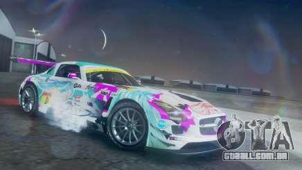 Mercedes-Benz SLS AMG GT3 2015 Hatsune Miku para GTA San Andreas