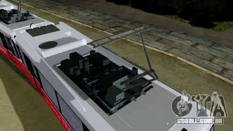 GTA 5 Metrotrain para GTA San Andreas traseira esquerda vista