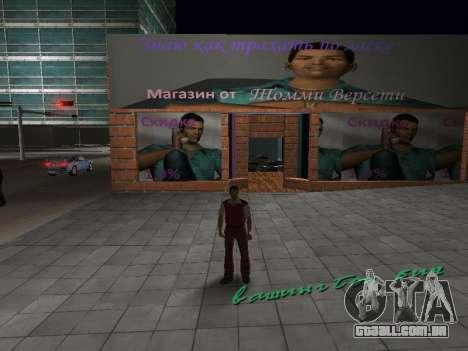 Loja da Tommy Vercetti para GTA Vice City