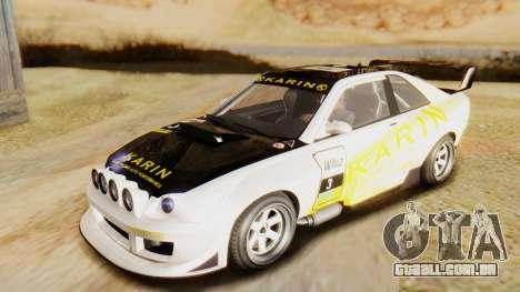 GTA 5 Karin Sultan RS IVF para GTA San Andreas vista interior