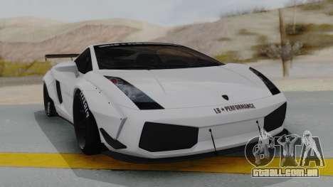 Lamborghini Gallardo 2005 LW LB Performance para GTA San Andreas vista direita