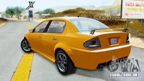 GTA 5 Declasse Premier Coupe para GTA San Andreas esquerda vista