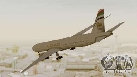Boeing 777-9x Etihad Airways para GTA San Andreas esquerda vista