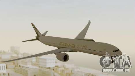 Boeing 777-9x Etihad Airways para GTA San Andreas traseira esquerda vista