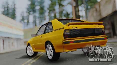 Audi Quattro Coupe 1983 para o motor de GTA San Andreas
