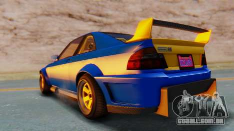 GTA 5 Karin Sultan RS Carbon para GTA San Andreas traseira esquerda vista