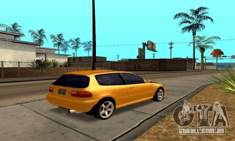 Honda Civic EG6 Tunable para GTA San Andreas vista superior