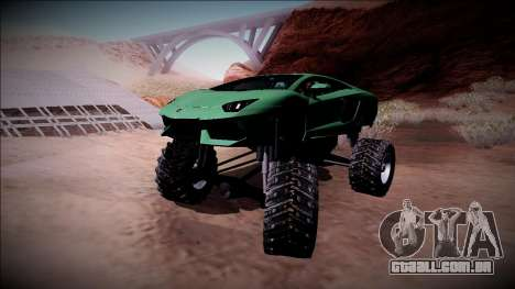 Lamborghini Aventador Monster Truck para GTA San Andreas vista superior