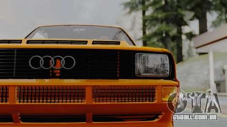 Audi Quattro Coupe 1983 para GTA San Andreas vista traseira