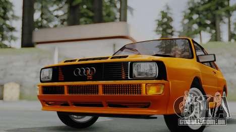 Audi Quattro Coupe 1983 para GTA San Andreas traseira esquerda vista