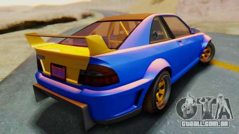 GTA 5 Karin Sultan RS Carbon para GTA San Andreas esquerda vista