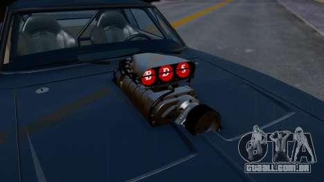 Dodge Charger from FnF4 para GTA San Andreas vista traseira