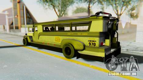 LGS Motors Eggtype Jeepney para GTA San Andreas esquerda vista