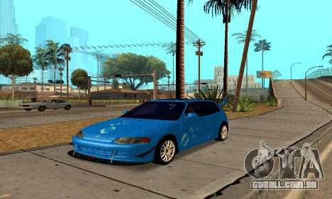 Honda Civic EG6 Tunable para GTA San Andreas vista traseira