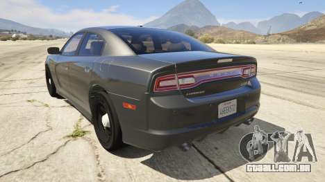 GTA 5 2012 Unmarked Dodge Charger traseira vista lateral esquerda