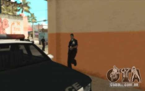 Polícia C. R. A. S. H para GTA San Andreas por diante tela