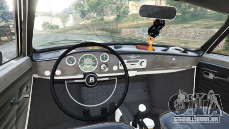 GTA 5 Volkswagen Karmann-Ghia Typ 14 1967 traseira direita vista lateral