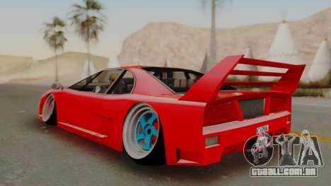 Turismo Saber X para GTA San Andreas vista direita