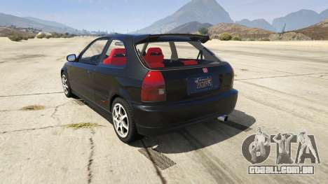 GTA 5 Honda Civic Type-R EK9 traseira vista lateral esquerda