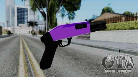 Purple Escopeta para GTA San Andreas segunda tela