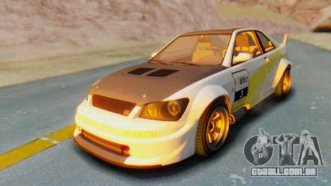 GTA 5 Karin Sultan RS Carbon IVF para GTA San Andreas vista inferior