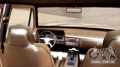 GTA 5 Declasse Rancher XL para GTA San Andreas traseira esquerda vista
