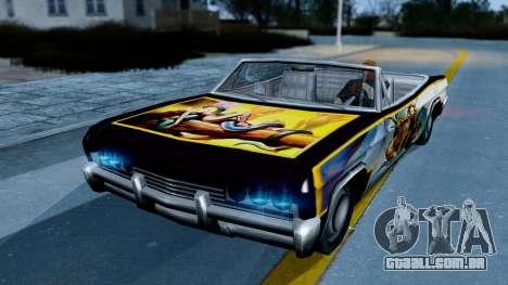 Slamvan New PJ para GTA San Andreas esquerda vista