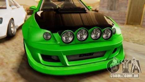 GTA 5 Karin Sultan RS IVF para GTA San Andreas vista traseira